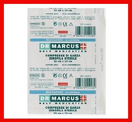 Compresse di Garza Idrofila Sterile Dr Marcus
