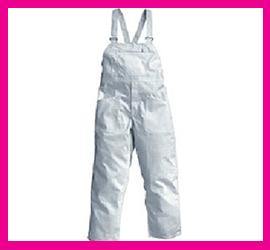 Pantalone con Pettorina in Tessuto Terital