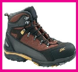 Scarpa protettiva alta tipo trekking in pelle nabuk - Cordura