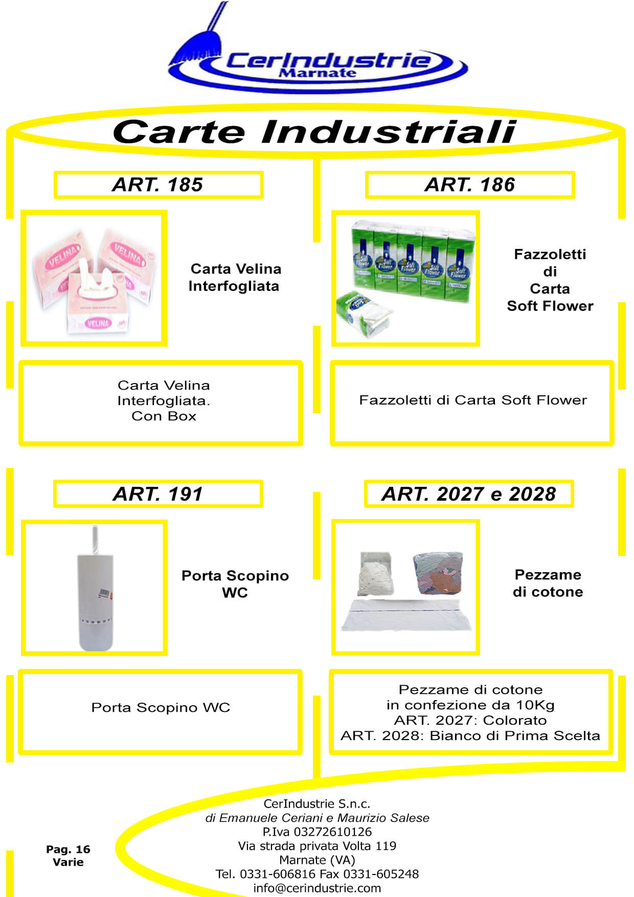 Varie Carte Industriali