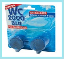 WC 2000 Blu per cassette anticalcare
