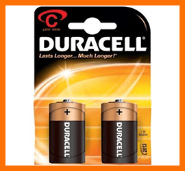 Pila Mezzatorcia Duracell C