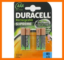Pile Duracell Mini Stilo Ricaricabili AAA