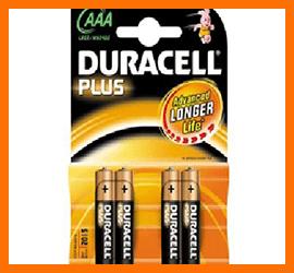 Pile Ministilo Duracell Plus AAA