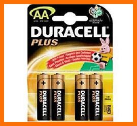 Pile Stilo Duracell Plus AA