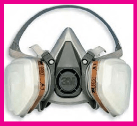 Semimaschera Gas Vapori Polveri 3M 6000